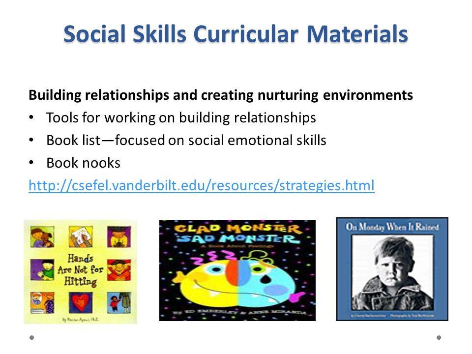 Social Skills Curricular Materials