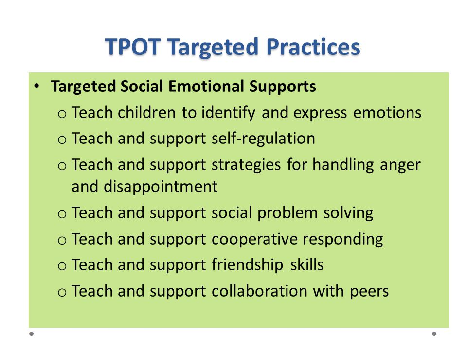 TPOT Targeted Practices