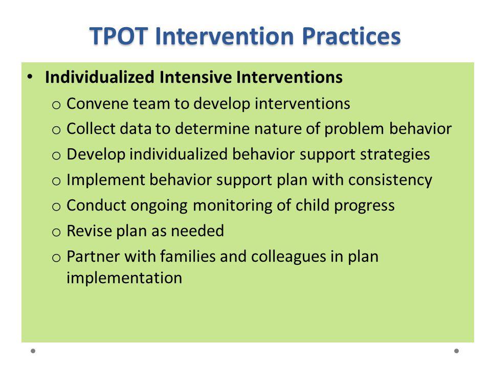 TPOT Intervention Practices