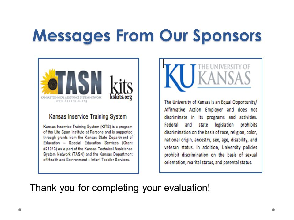 Messages From Our Sponsors