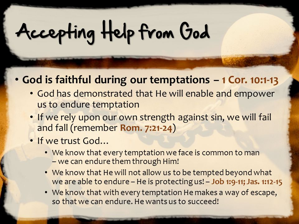 Accepting Help from God