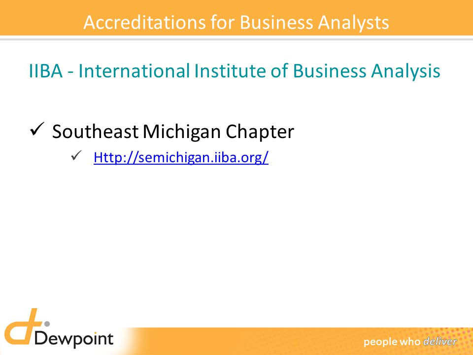 Accreditations for Business Analysts