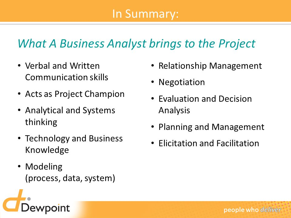 What A Business Analyst brings to the Project
