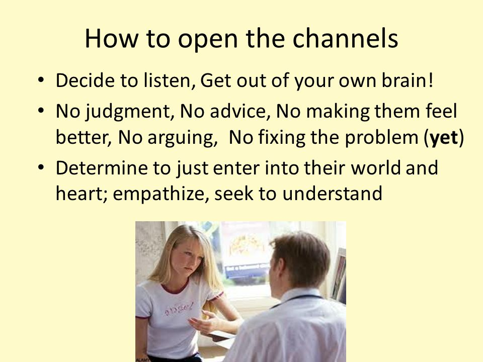 How to open the channels