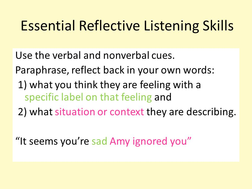 Essential Reflective Listening Skills