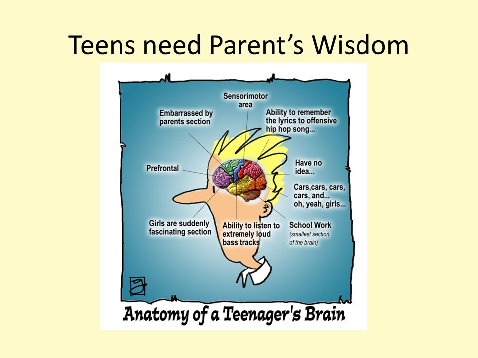 Teens need Parent's Wisdom