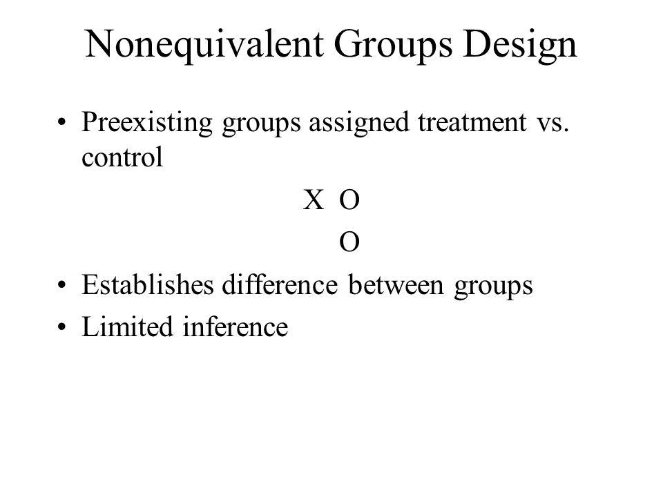 Nonequivalent Groups Design