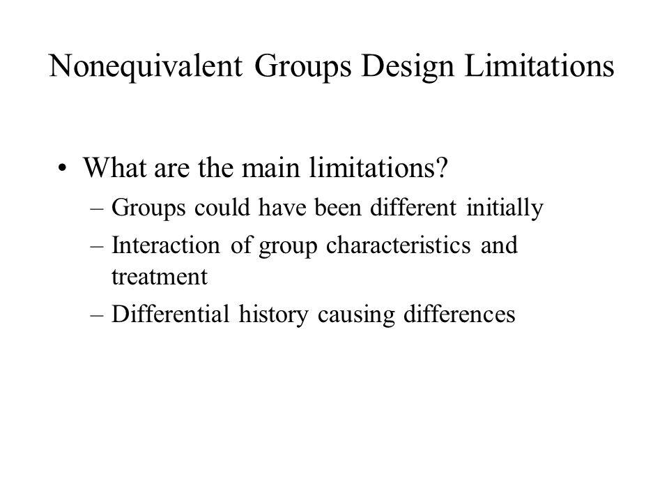 Nonequivalent Groups Design Limitations