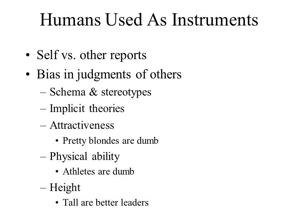 Humans Used As Instruments