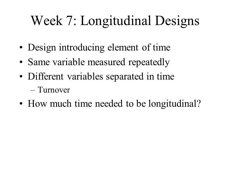 Week 7: Longitudinal Designs