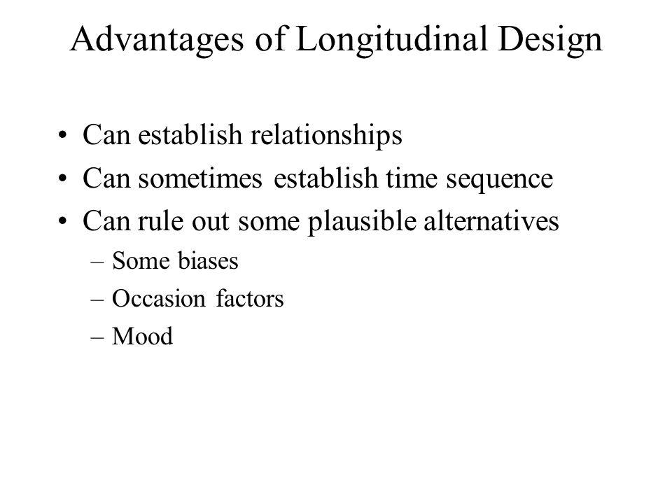 Advantages of Longitudinal Design