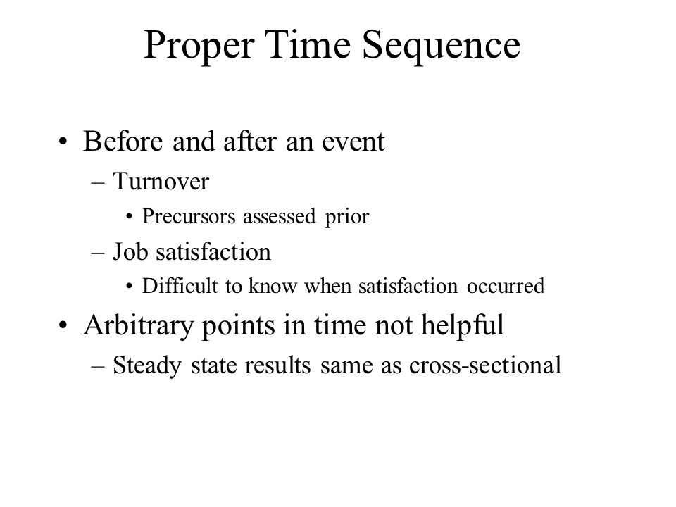 Proper Time Sequence Before and after an event