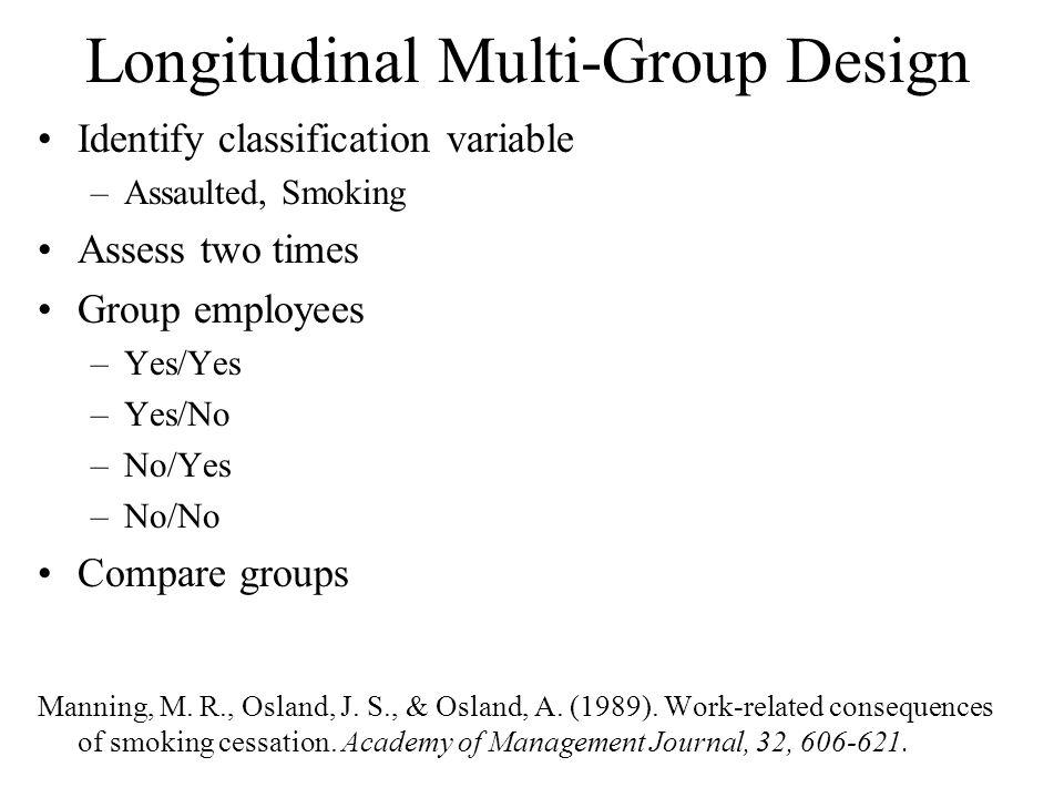 Longitudinal Multi-Group Design