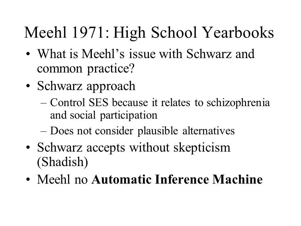 Meehl 1971: High School Yearbooks