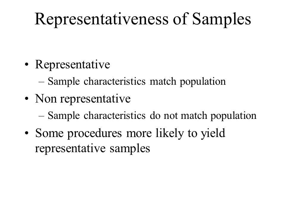 Representativeness of Samples