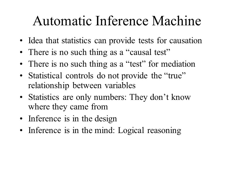 Automatic Inference Machine