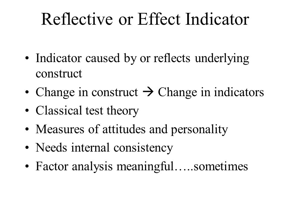 Reflective or Effect Indicator