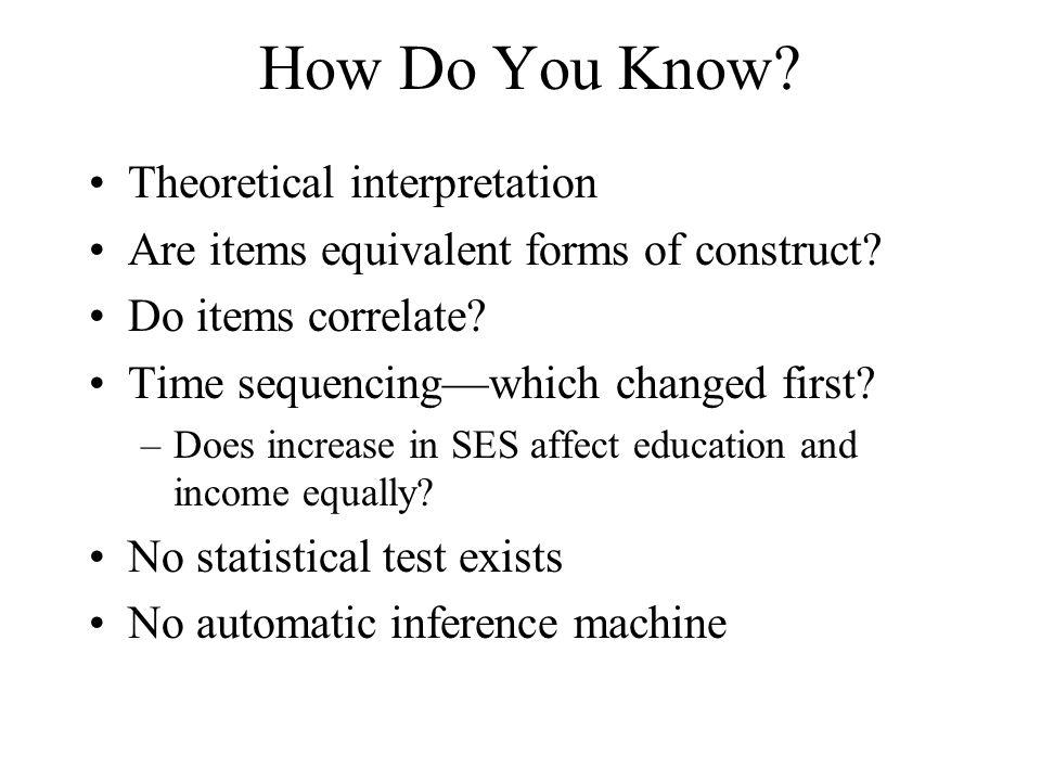 How Do You Know Theoretical interpretation