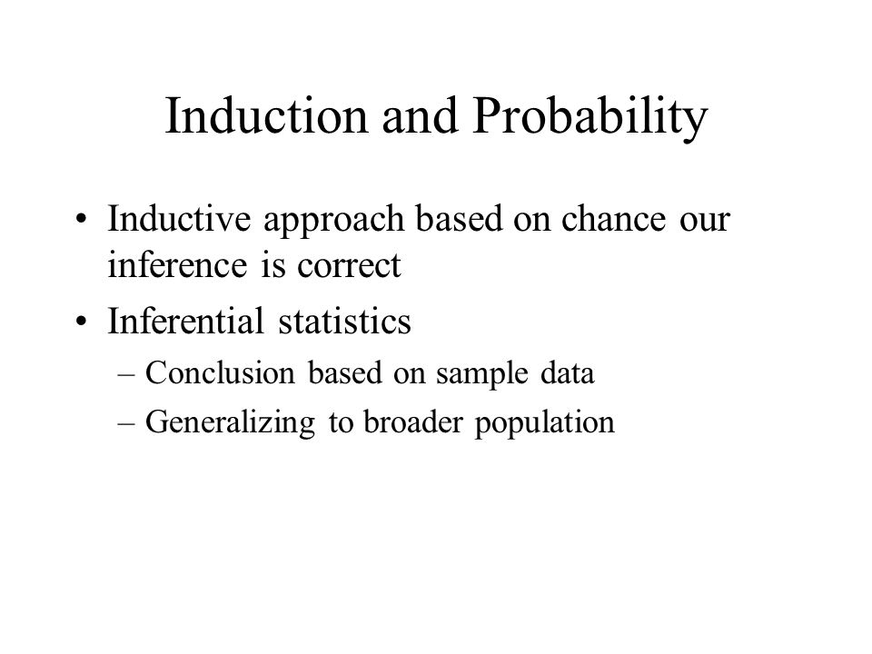 Induction and Probability
