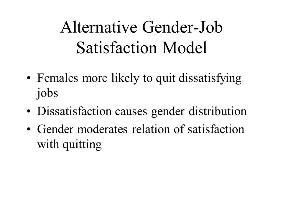 Alternative Gender-Job Satisfaction Model