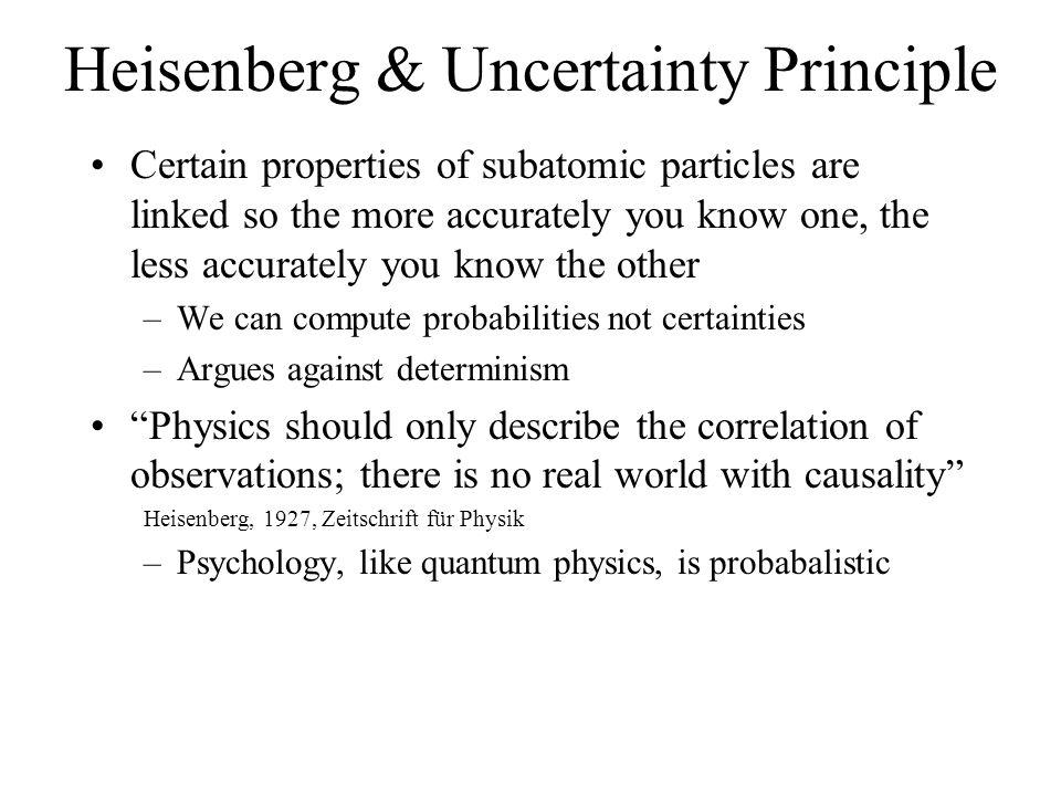 Heisenberg & Uncertainty Principle