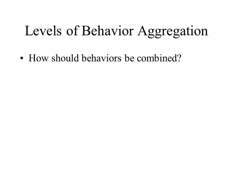 Levels of Behavior Aggregation