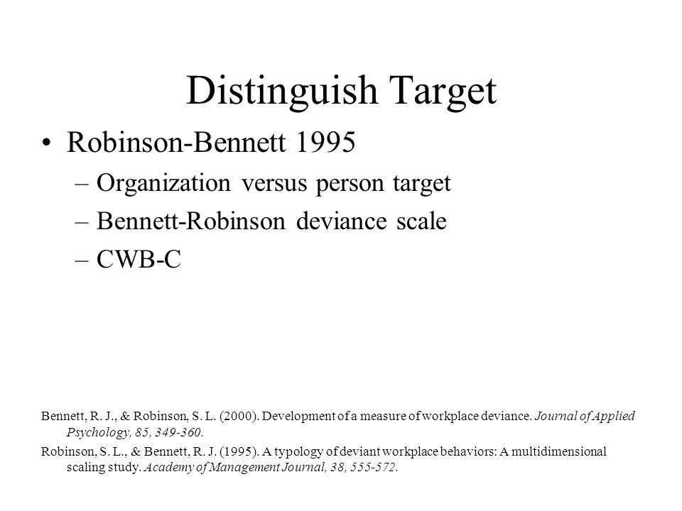 Distinguish Target Robinson-Bennett 1995