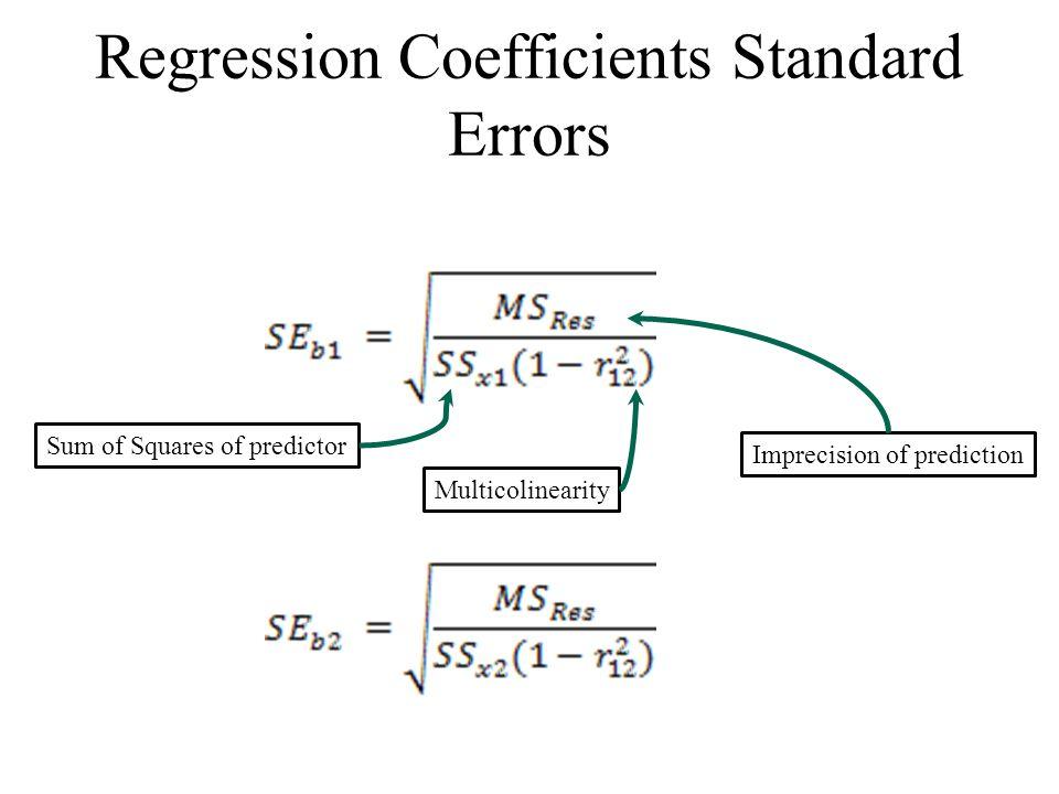 Regression Coefficients Standard Errors