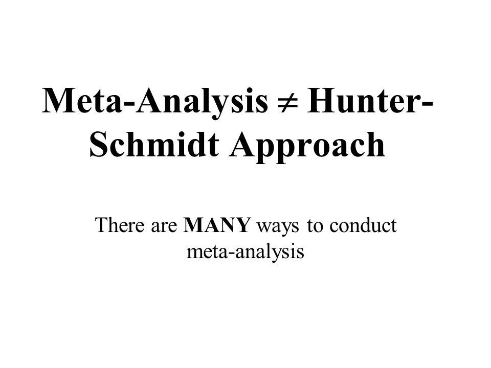Meta-Analysis  Hunter-Schmidt Approach