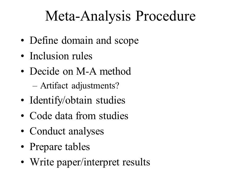 Meta-Analysis Procedure