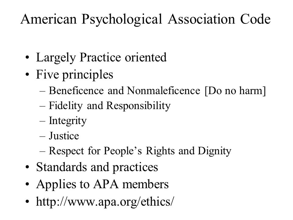American Psychological Association Code