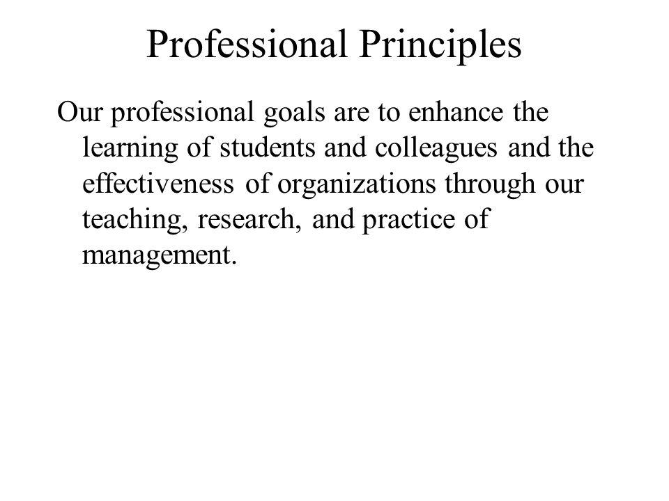 Professional Principles