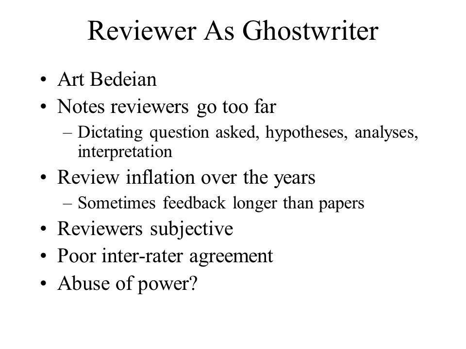 Reviewer As Ghostwriter