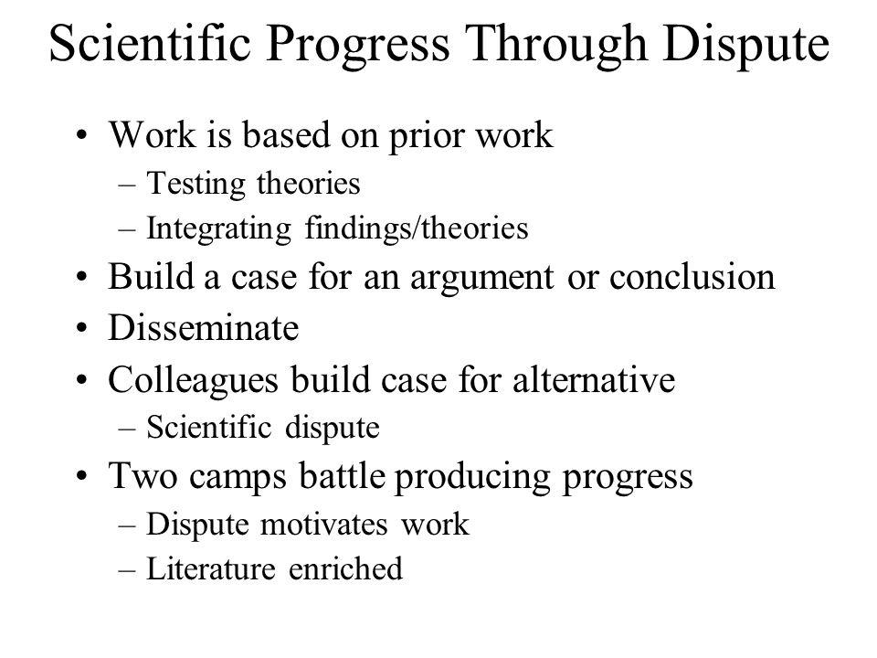 Scientific Progress Through Dispute