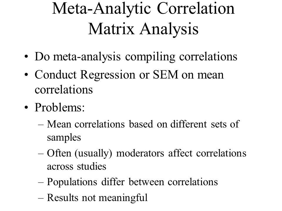 Meta-Analytic Correlation Matrix Analysis