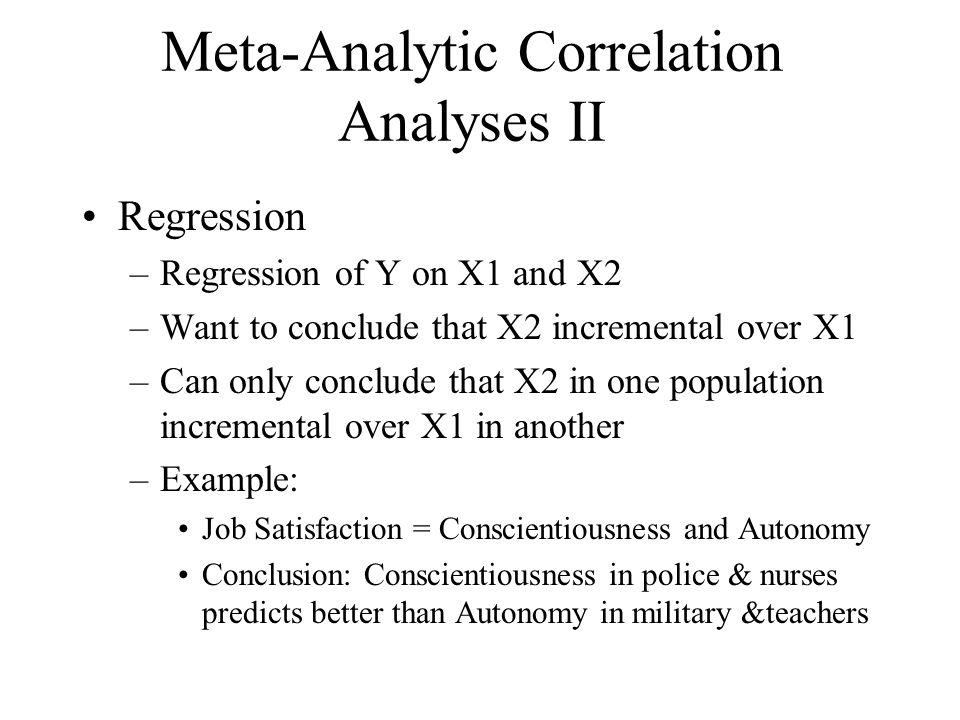 Meta-Analytic Correlation Analyses II