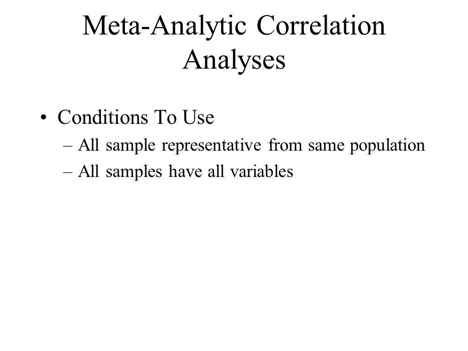 Meta-Analytic Correlation Analyses