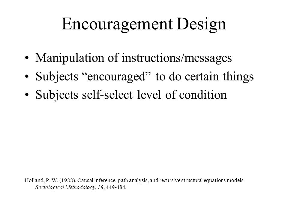 Encouragement Design Manipulation of instructions/messages
