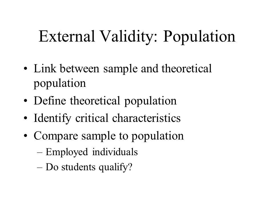 External Validity: Population