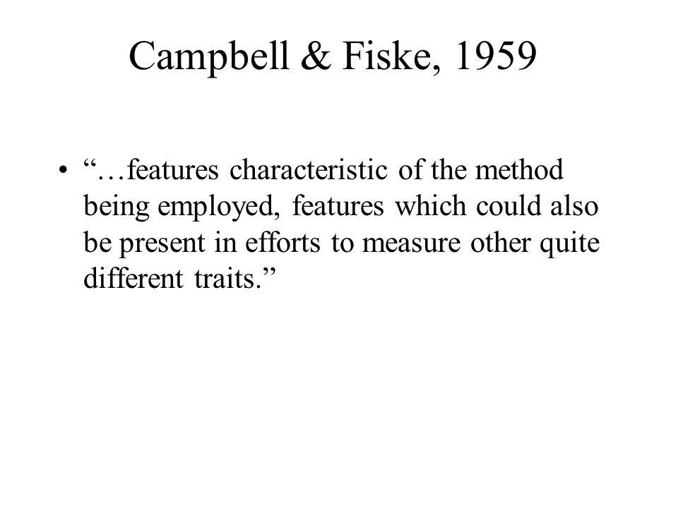 Campbell & Fiske, 1959