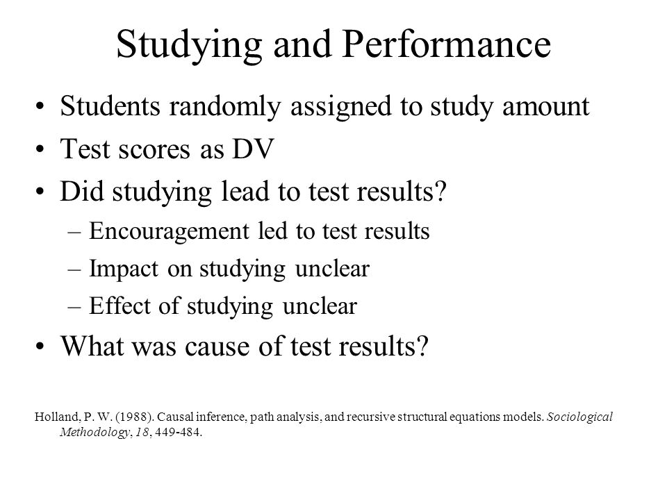 Studying and Performance