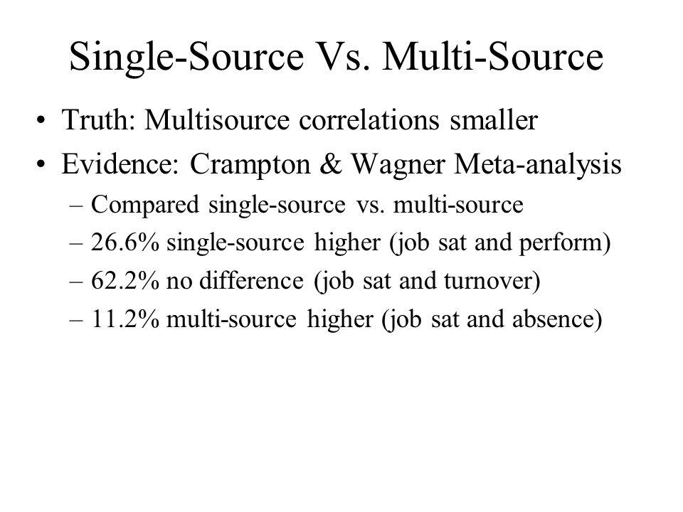 Single-Source Vs. Multi-Source