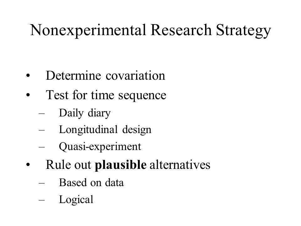 Nonexperimental Research Strategy