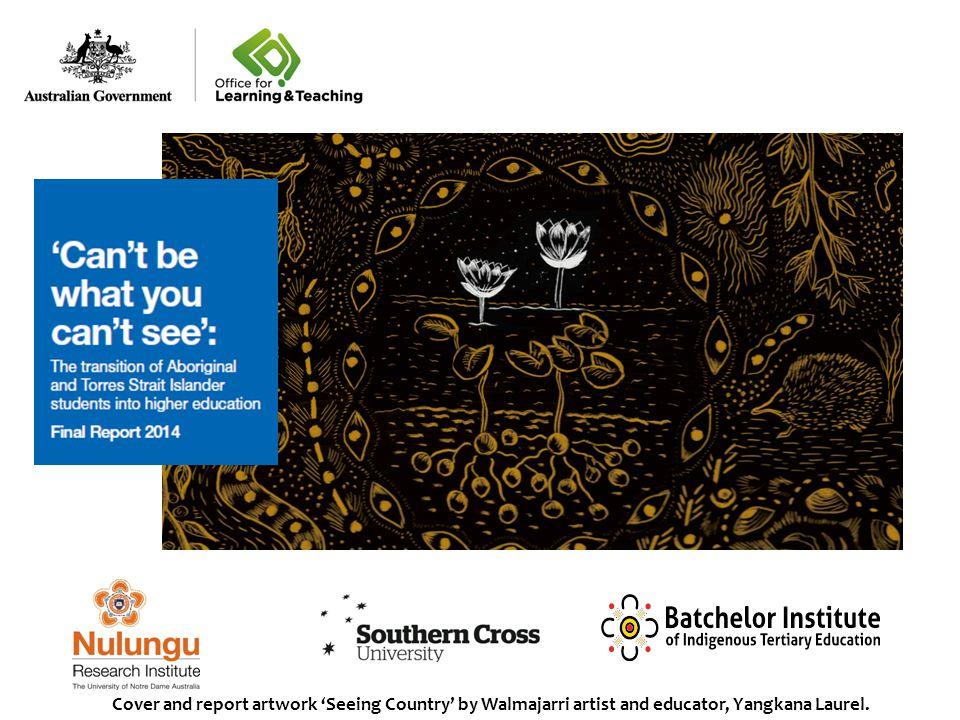 Cover and report artwork 'Seeing Country' by Walmajarri artist and educator, Yangkana Laurel.