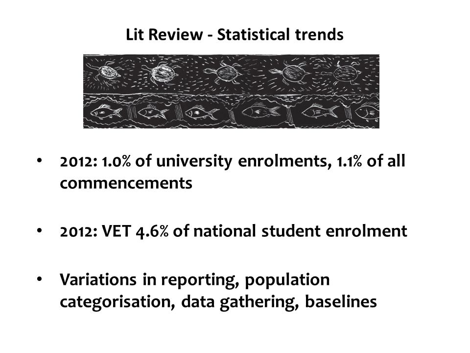 Lit Review - Statistical trends