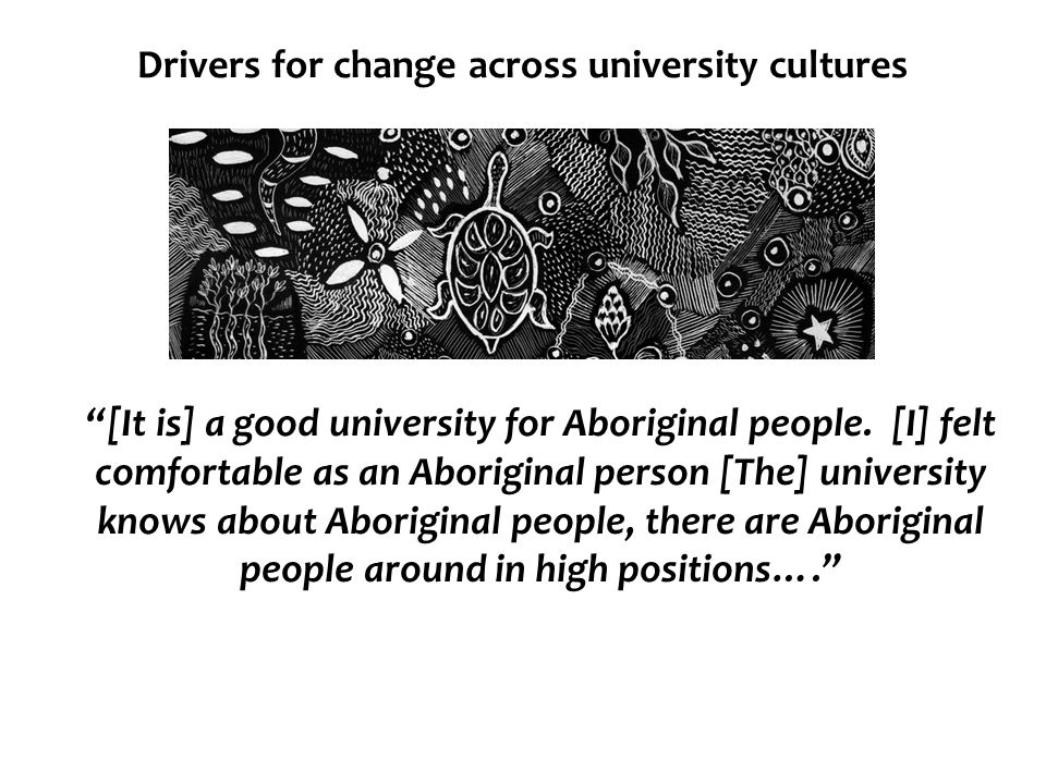 Drivers for change across university cultures