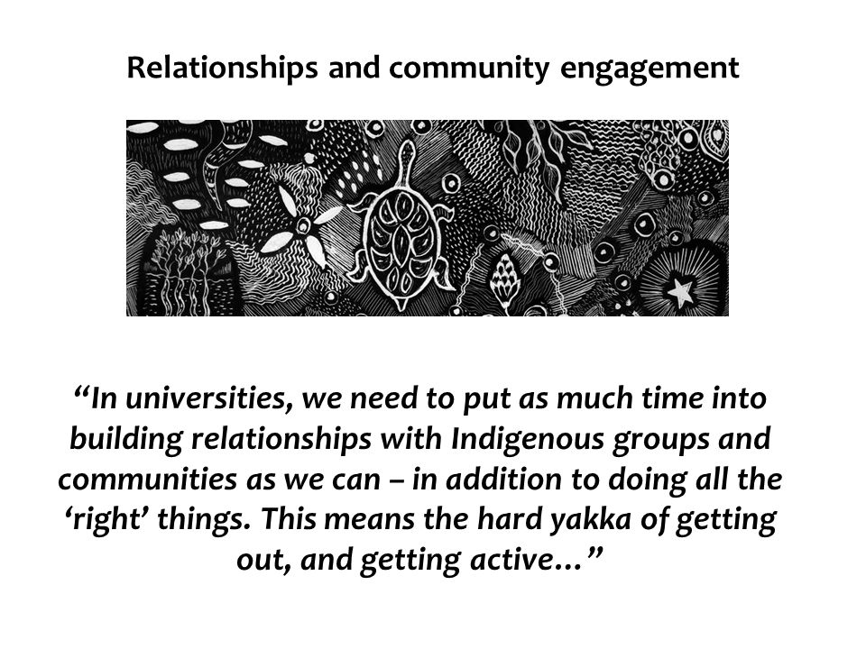 Relationships and community engagement