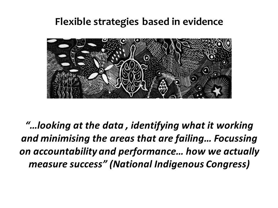 Flexible strategies based in evidence