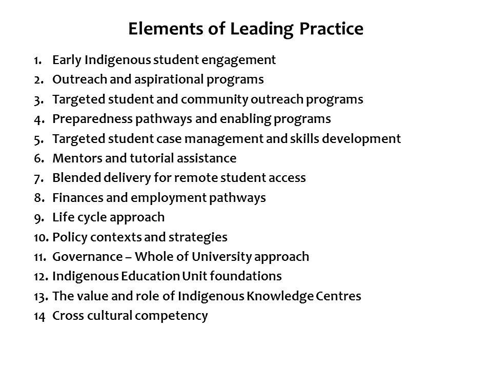 Elements of Leading Practice