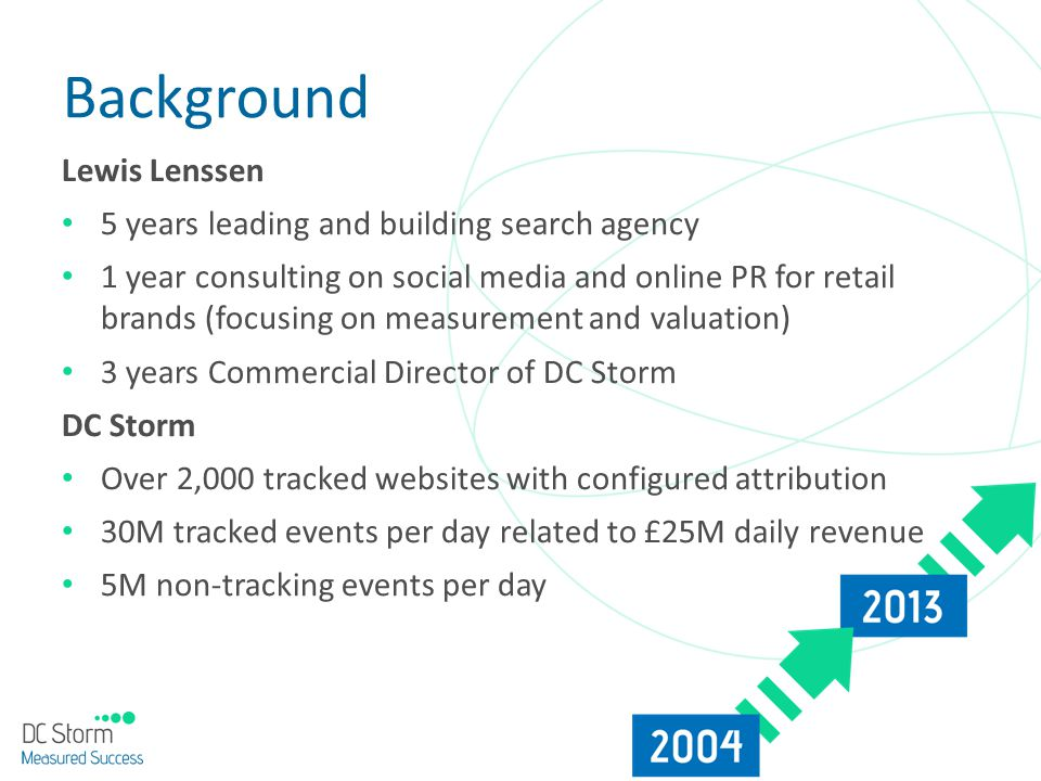 Background Lewis Lenssen 5 years leading and building search agency